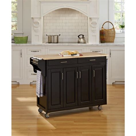 black kitchen island table carts islands utility tables kitchen the home depot 4706
