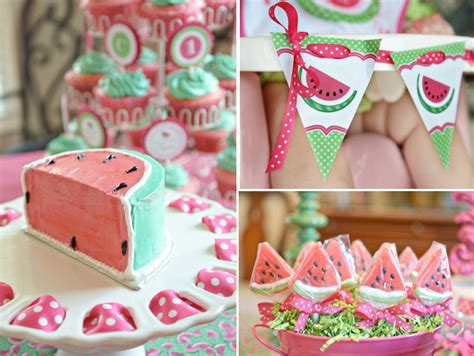girl 1st birthday party themes watermelon fruit summer girl 1st birthday party planning ideas