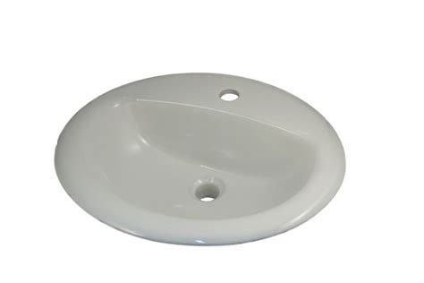 Oval Vessel Sink Home Depot by Jag For Ceralux Oval D Bowl Drop In Sink Drilled For