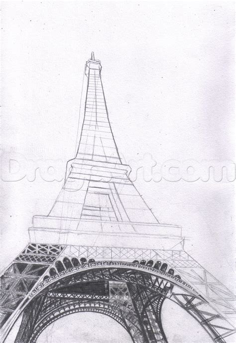 How To Draw The Eiffel Tower Step By Step Buildings