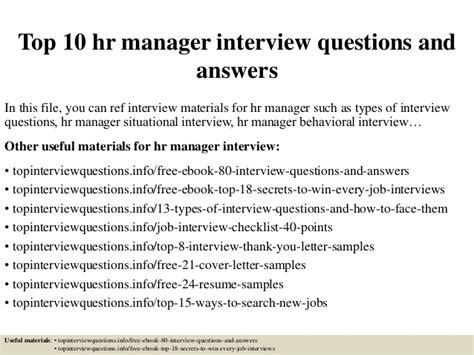 interview for hr position questions and answers top 10 hr manager interview questions and answers