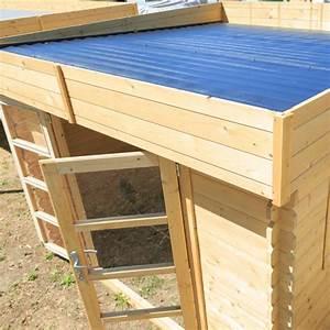 Chalet & Jardin Boutique : Abri bois Soleil toit plat 9m Abri de jardin soleil Toit plat