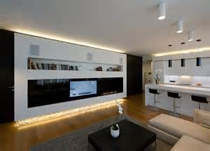 Contemporary modern apartment interior design with