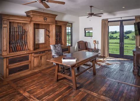 Ranch   Rustic   Home Office   Houston   by Thompson