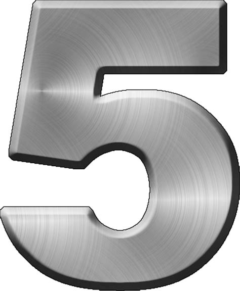 presentation alphabets brushed metal letter a presentation alphabets brushed metal numeral 5 31331