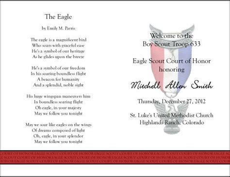eagle scout court of honor program template 45 best eagle scout ceremony images on boy scouting boy scouts and scouts