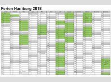 Kalender 2018 Hamburg Ausdrucken, Ferien, Feiertage