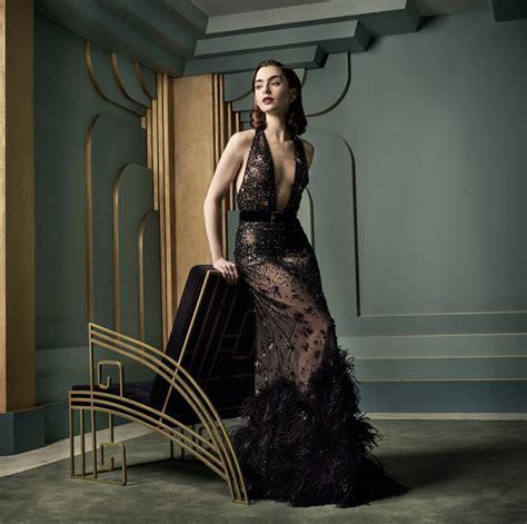 Lily Collins Vanity Fair Oscar Party Portrait
