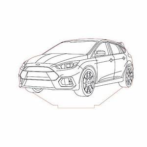ford focus rs 2016 3d illusion lamp plan vector file 3d With 2016 ford focus rs