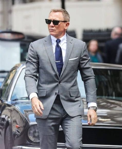 No Time To Die Grey Suit | James Bond Glen Check Grey Suit