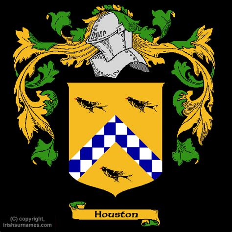 Houston family crest and meaning of the coat of arms for the surname houston