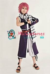fairy tail natsu dragneel purple cosplay costume – The ...