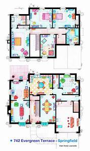 2 Story Apartment Design Plans Artist Sketches The Floor Plans Of Popular Tv Homes