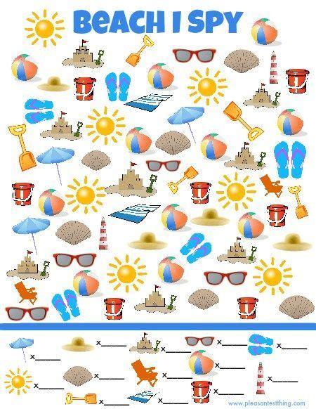 beach i spy game preschool activities i spy games spy games summer activities
