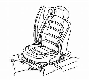 Diagram For Removing Front Bench Seat 2001 Cadilac Sedan  The Seat Appears To Be Stuck In The