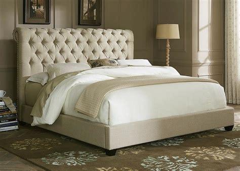 bedroom cal king size padded platform bed  tufted