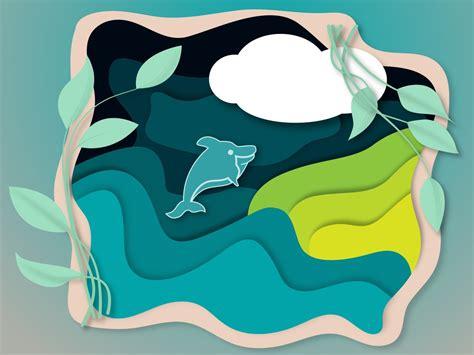 Paper Cut Illustration by Chandrani Das on Dribbble