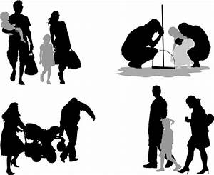 Family members silhouettes vector material – Over millions ...