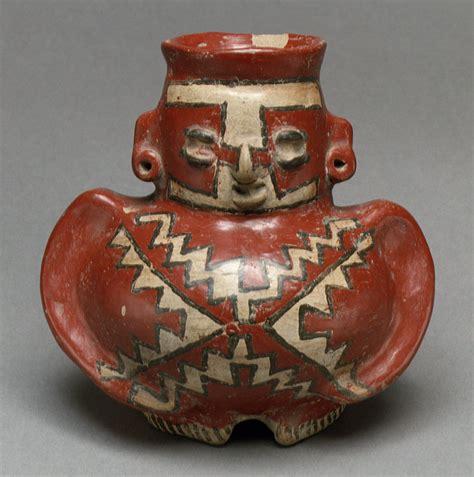figure vessel   ancient artifacts pottery art