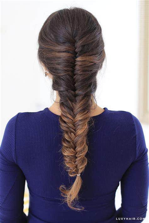fishtail braid with short hair hairstyles ideas
