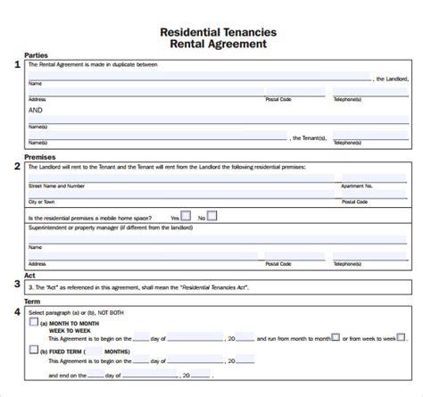apartment rental agreement templates sample templates