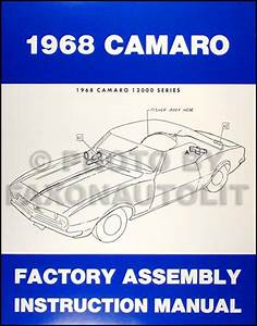 1968 Camaro Wiring Diagram Manual Reprint