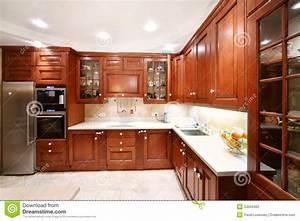 Placards De Cuisine : placards en bois simples de cuisine partie sup rieure du ~ Carolinahurricanesstore.com Idées de Décoration