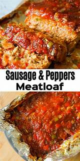 For more video recipes, subscribe to my youtube channel. Sausage and Peppers Meatloaf is an easy meatloaf recipe using two pounds of mild Italian sausage ...