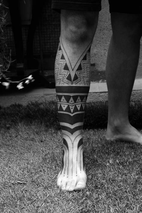 Maori Half Leg Tattoo | Best tattoo design ideas