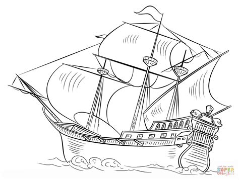 Weighing Boat Drawing by Coloriage Galion Espagnol Coloriages 224 Imprimer Gratuits