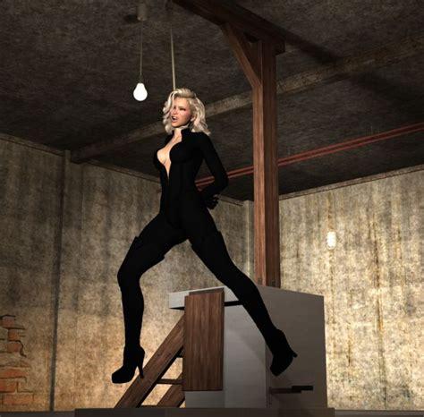 Blonde Snuff 3d Art Hanged Girl Erotic Art Luscious