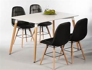 Esstisch Stühle Weiß : tischgruppe esstisch ilka wei 4 st hle tobias schwarz ~ Michelbontemps.com Haus und Dekorationen