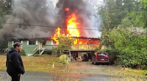 pre arrival video  salt spring island bc house fire