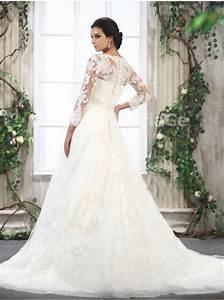 robe de mariee elegante avec manches longues pour mariage With robe de mariage avec alliance pas cher