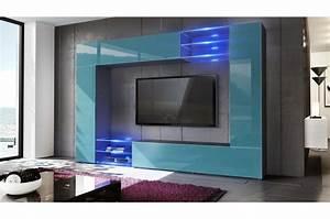 Meuble Design Tv Mural : meuble tv mural design led samba cbc meubles ~ Teatrodelosmanantiales.com Idées de Décoration
