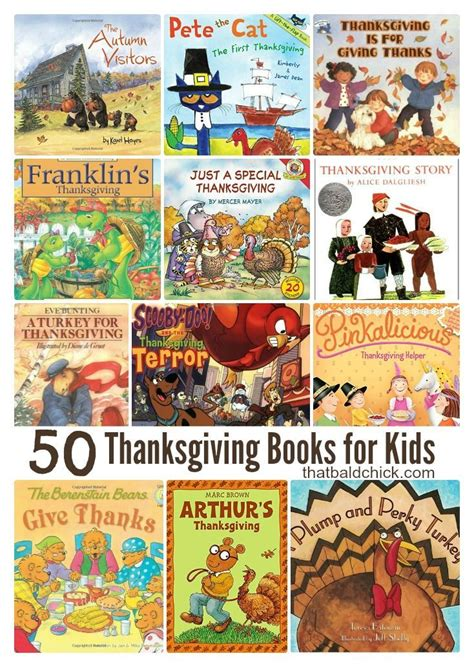 50 thanksgiving books for kids thatbaldchick
