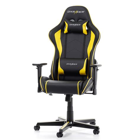 siege pc gamer dxracer formula fh08 jaune siège pc dxracer sur ldlc com