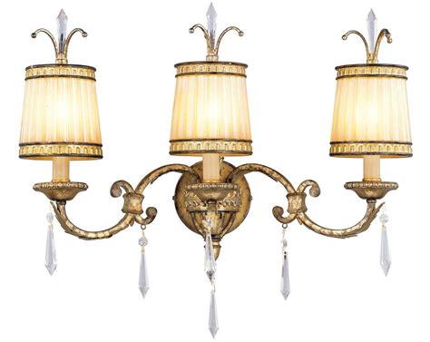 Gold Bathroom Light Fixtures by 3 Light Vintage Gold Leaf Livex La Bathroom Vanity