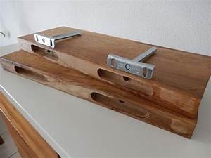 Wandboard Eiche Massiv : 2xwandboard eiche wild massiv holz board regal steckboard regalbrett baumkante ebay ~ Orissabook.com Haus und Dekorationen