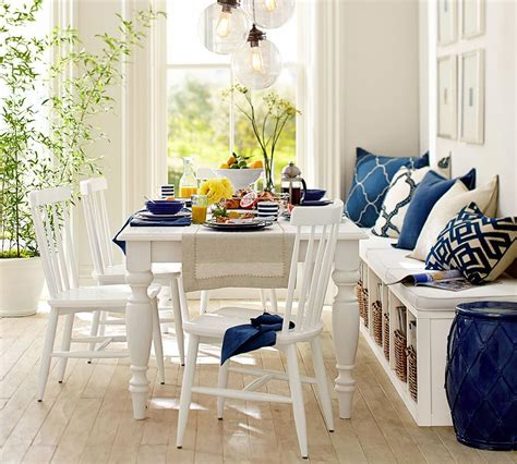 casual  small dining spaces  bench   side