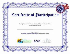 certificate of participation template playbestonlinegames With free templates for certificates of participation