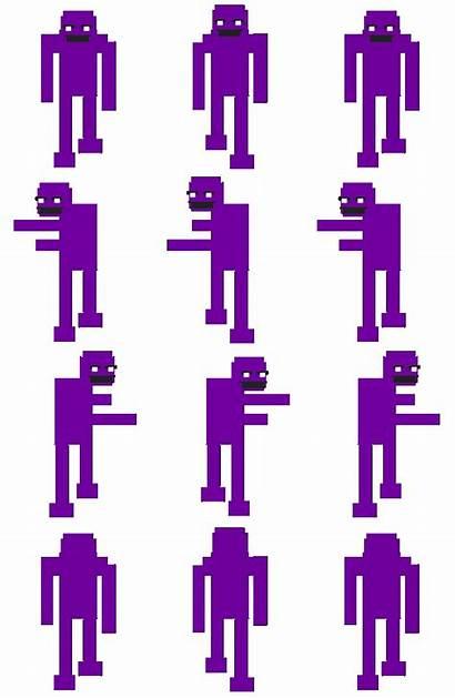 Purple Guy Fnaf Sprite Rpg Sheet Maker
