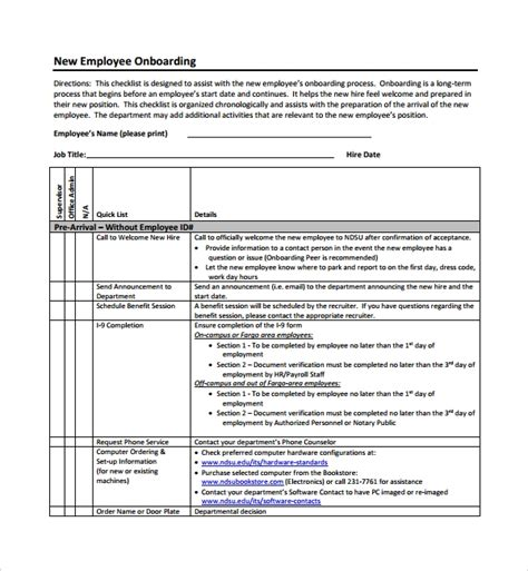 onboarding plan templates sample templates