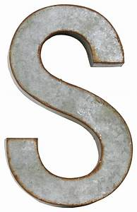 metal alphabet wall decor letter s industrial wall With metal alphabet letters for wall
