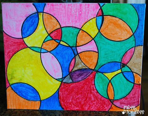 craft work for students watercolor circle mess for less