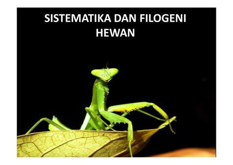 sistematika dan filogeni hewan