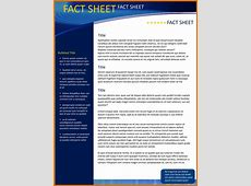8+ fact sheet template wordReference Letters Words