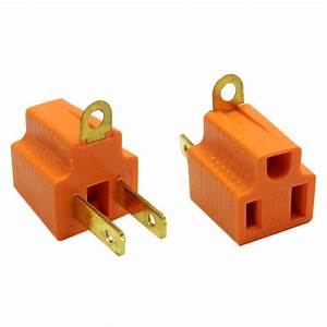 20 Pieces 3 Prong Plug To 2 Prong Outlet Electrical Ground