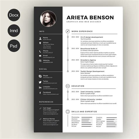 Resume Design by Clean Cv Resume Resume Templates Creative Market
