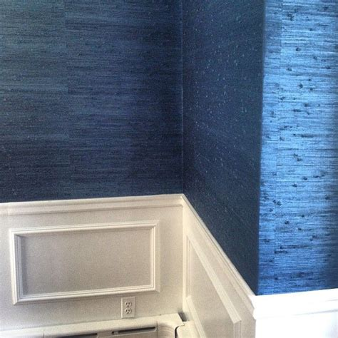grasscloth blue  grasscloth wallpaper